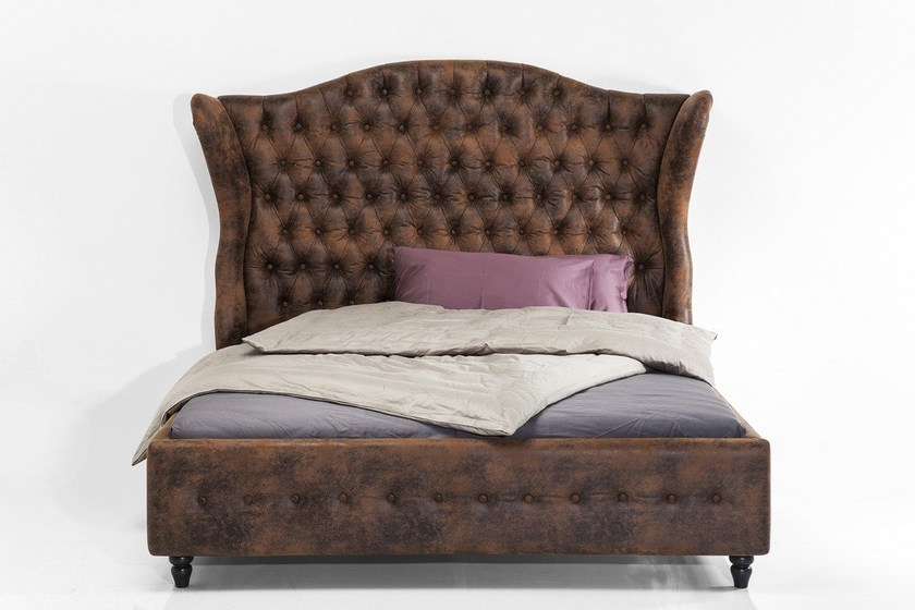 Upholstered bed with tufted headboard CITY SPIRIT VINTAGE by KARE-DESIGN