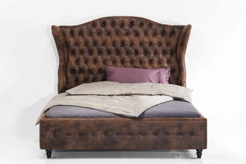 Upholstered bed with tufted headboard CITY SPIRIT VINTAGE - KARE-DESIGN