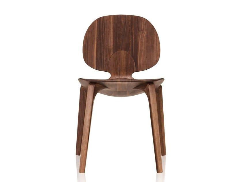 Sedia in legno massello CLAD | Sedia in legno massello - Sollos