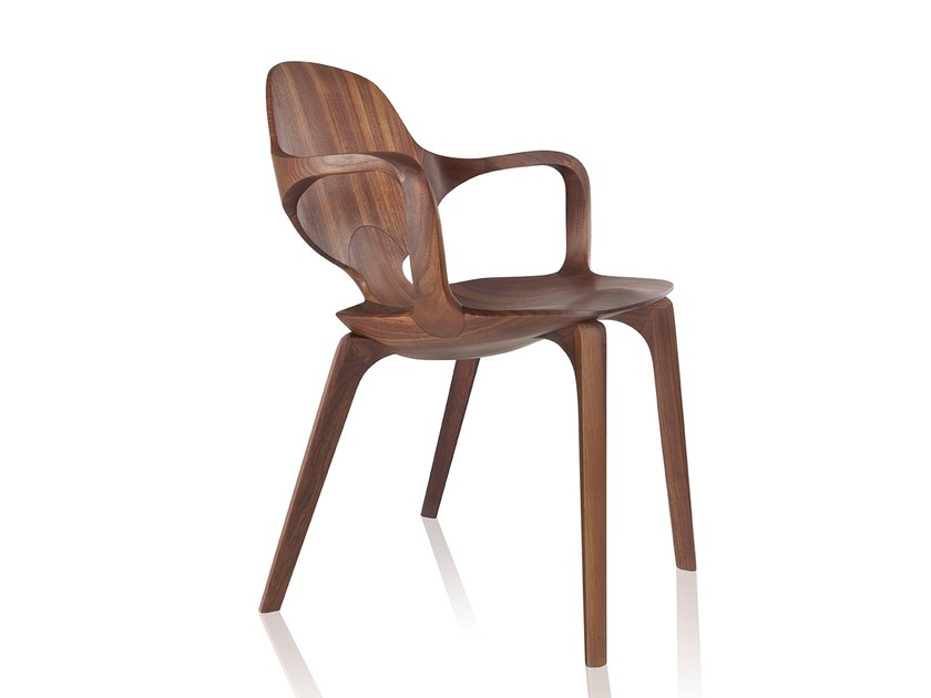 Solid wood chair with armrests CLAD | Chair with armrests - Sollos
