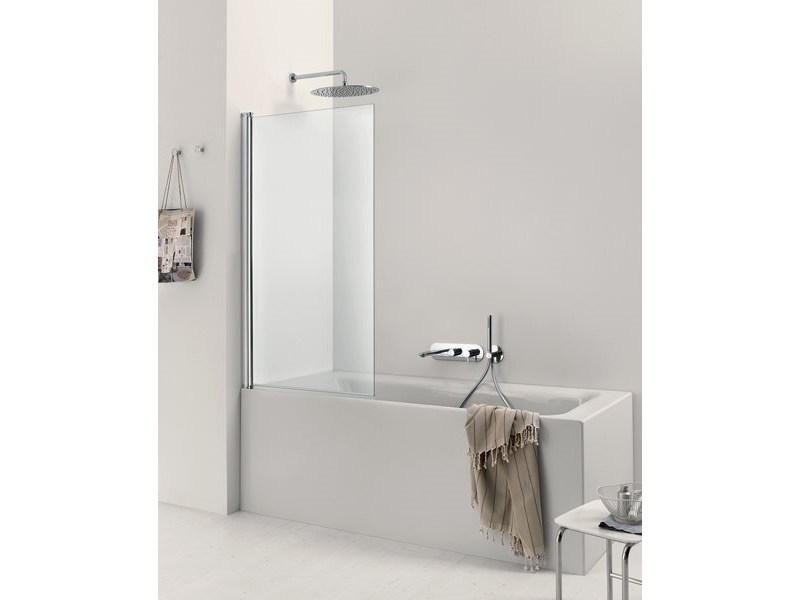 Glass bathtub wall panel CLAIRE DESIGN - 1 | Bathtub wall panel - INDA®
