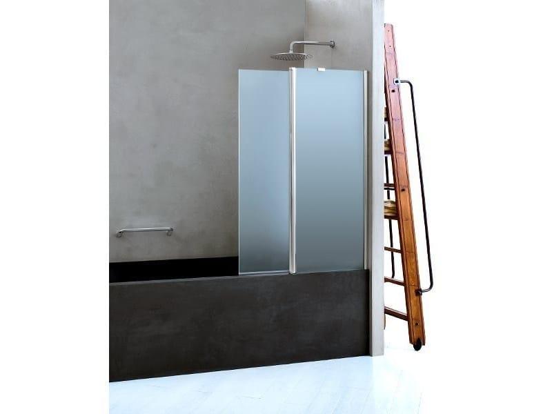 Folding glass bathtub wall panel CLAIRE DESIGN - 3 | Bathtub wall panel - INDA®