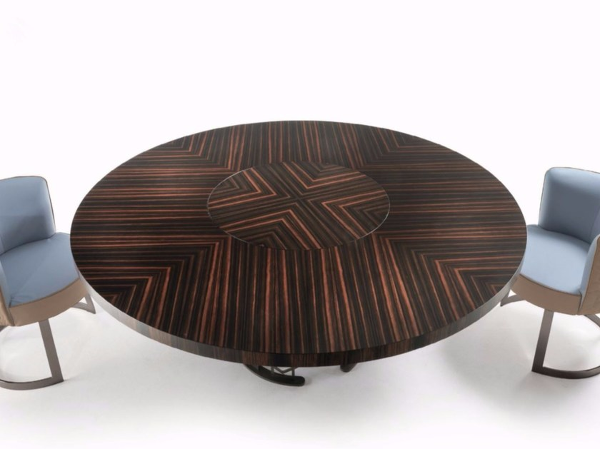 Round wooden table CLAIRMONT | Round table - Longhi
