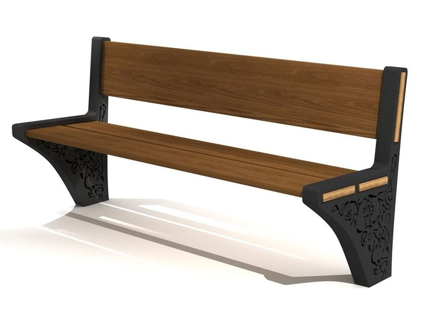Steel and wood Bench CLASICO - LAB23
