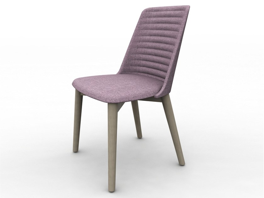Upholstered fabric chair CLASS | Chair - DOMITALIA