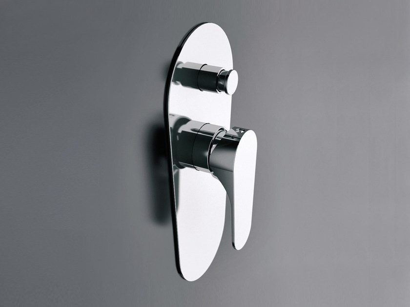 Chrome-plated single handle shower mixer with diverter CLASS LINE | Shower mixer with diverter by Remer Rubinetterie