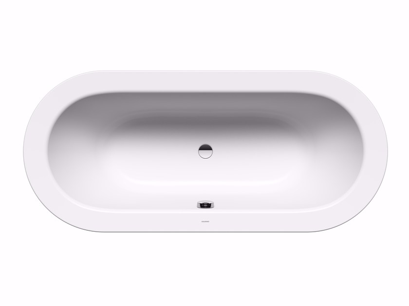 Freestanding oval steel bathtub CLASSIC DUO OVAL WIDE WITH PANELLING by Kaldewei Italia