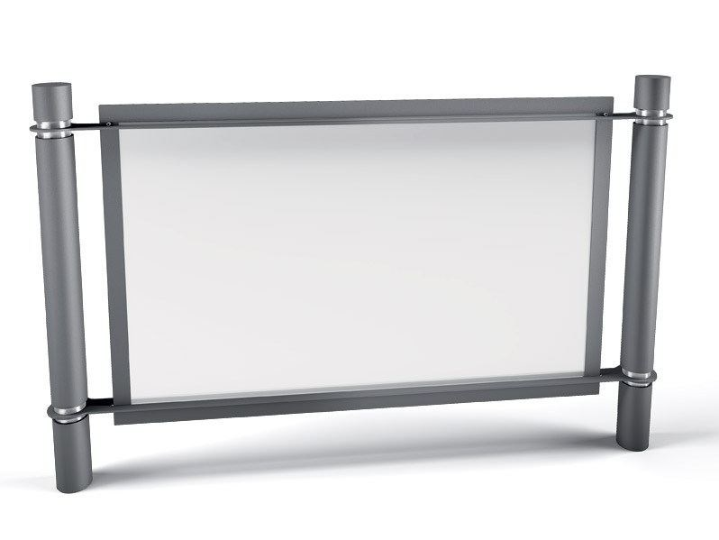 Steel pedestrian barrier CLASSIC by LAB23