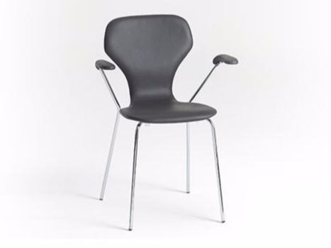 Leather chair with armrests CLASSIC | Leather chair - Danerka