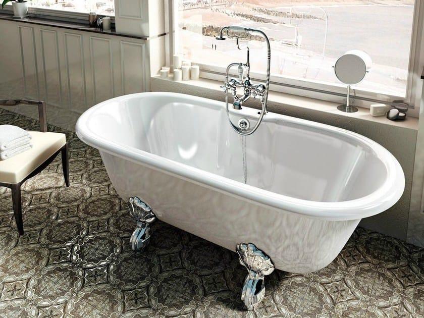 Freestanding oval bathtub on legs CLASSICO - Polo