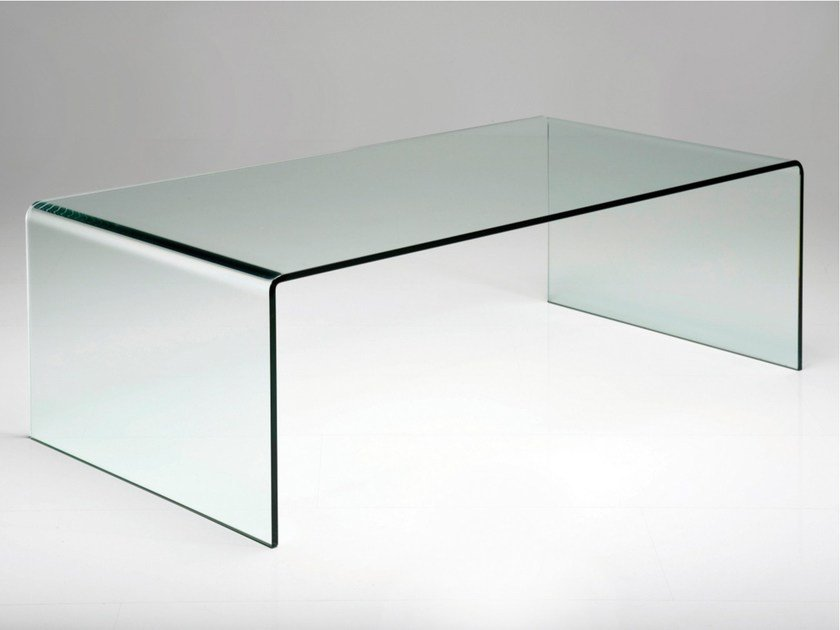 Rectangular glass coffee table CLEAR CLUB BASIC - KARE-DESIGN