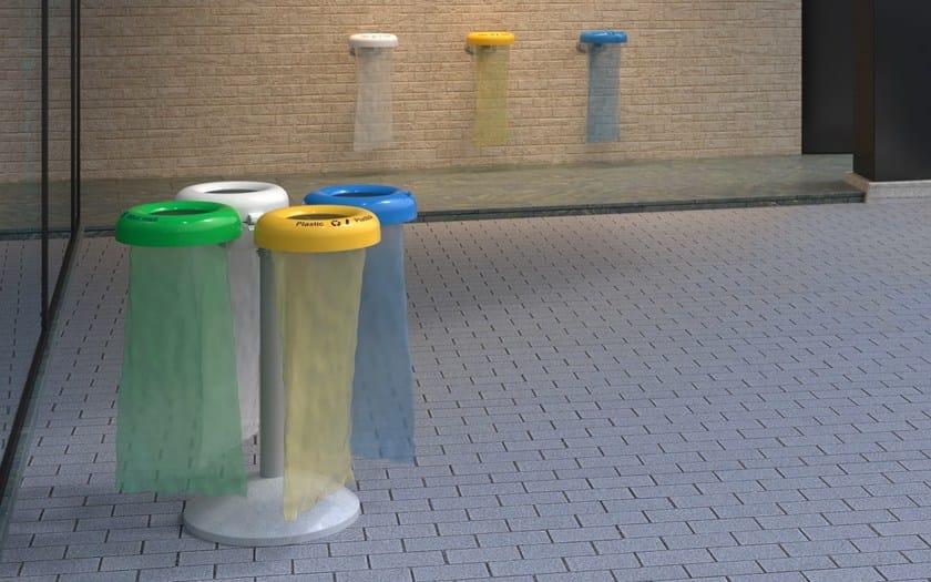 Portarifiuti antiterrorismo per raccolta differenziata for City design arredo urbano