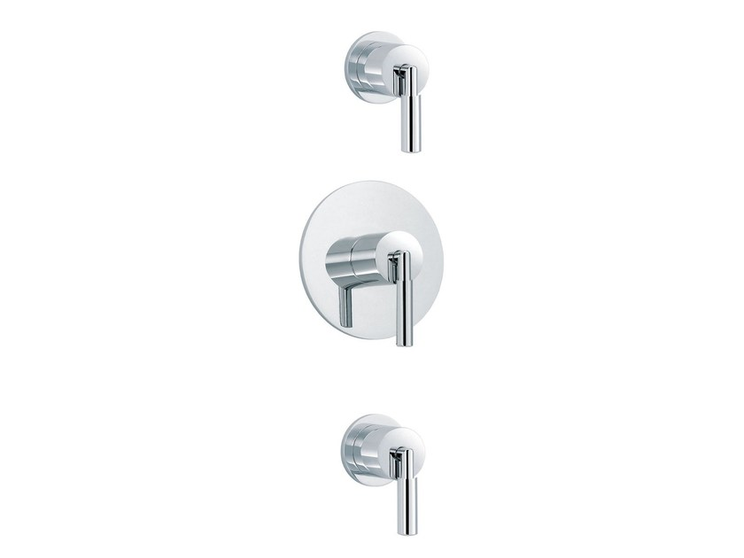 3 hole shower mixer with individual rosettes CLIFF | 3 hole shower mixer - rvb