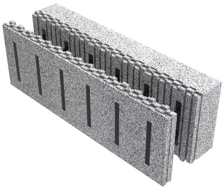 Blocco cassero isolante in eps per muri portanti in c a for Piccola casa costruita su fondamenta
