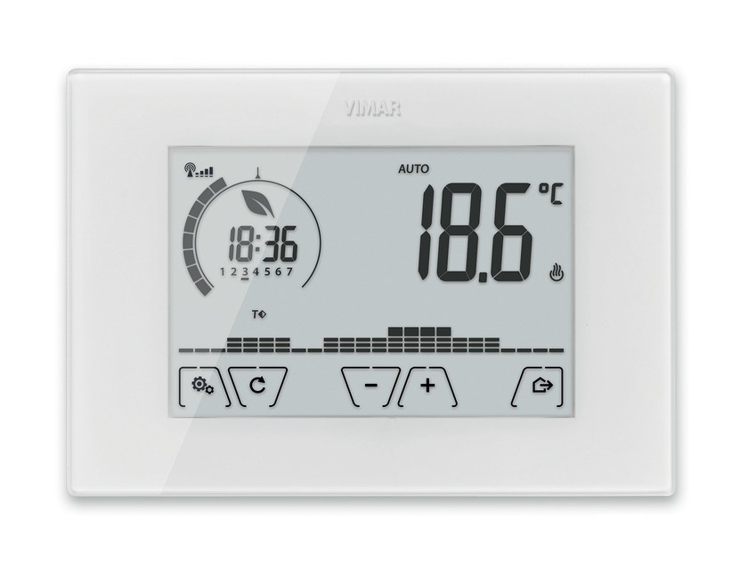 Home automation system for HVAC control CLIMACHRONO - VIMAR