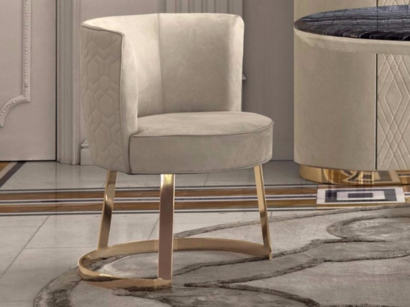 Fabric easy chair with armrests CLOÉ - Fratelli Longhi