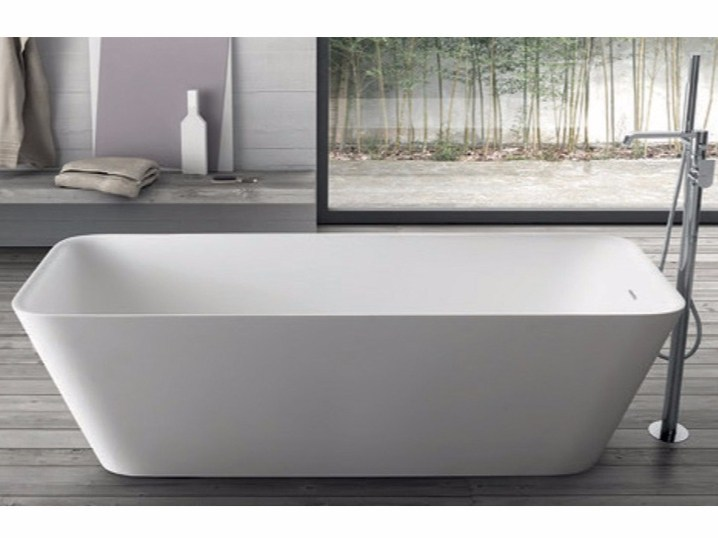 Freestanding rectangular bathtub CLOE SYSTEM | Rectangular bathtub - RAB Arredobagno