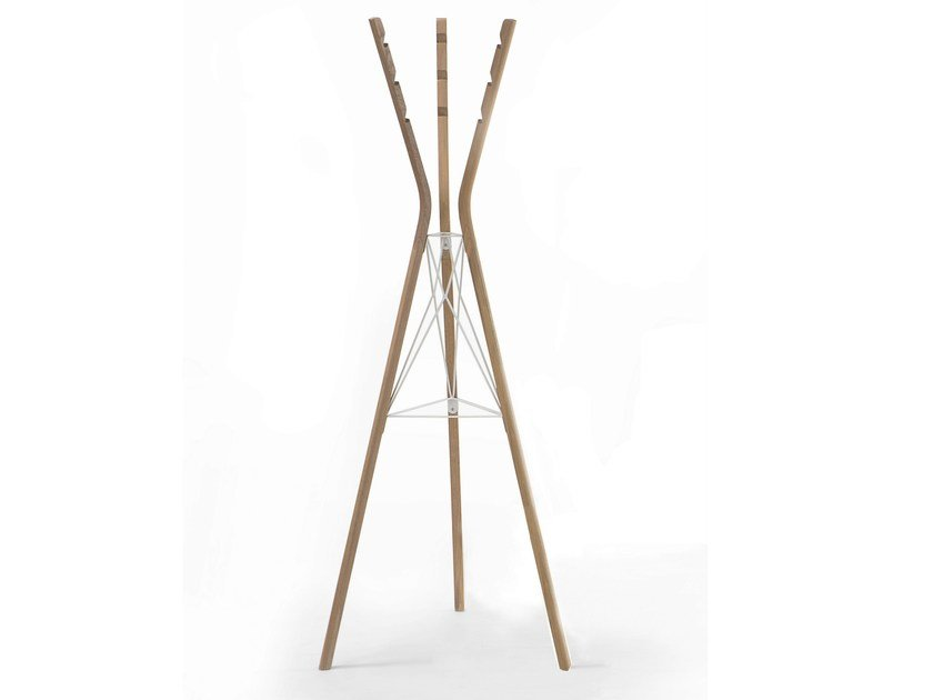 Steel and wood coat stand CLOTH HANGER - Specimen Editions