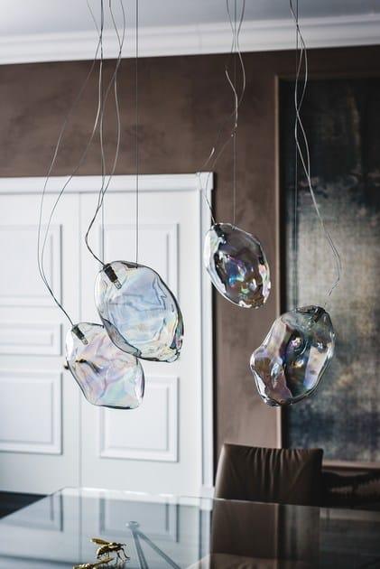 lampada a sospensione in cristallo cloud | lampada a sospensione ... - Lampade Arabe Italia