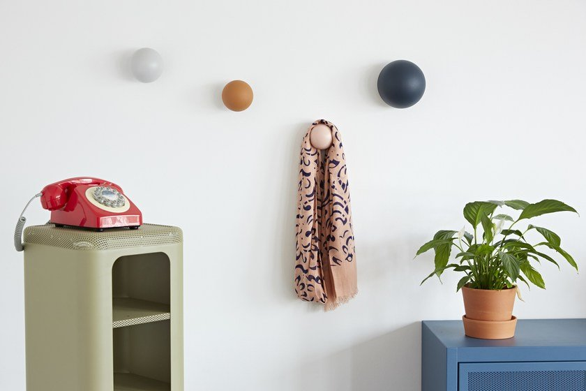 Wall-mounted wooden coat rack PATÈRES CLOUS | Contemporary style coat rack by Tolix