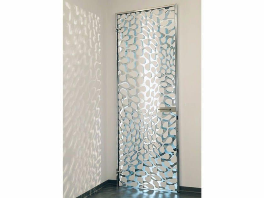Hinged sandblasted glass door CLOVER - Casali