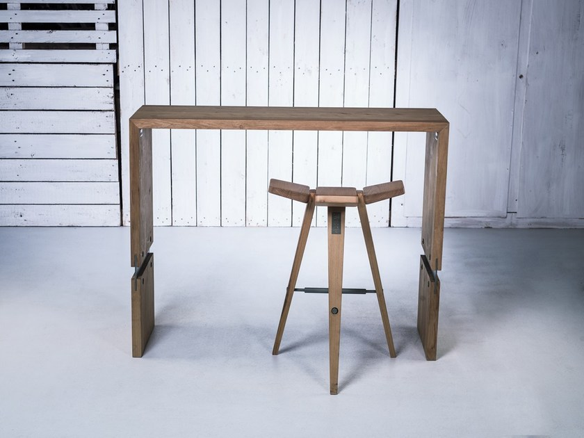 Contemporary style wooden high table CLOVER | High table - HOOKL und STOOL