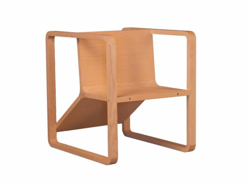 Ash armchair with armrests CLOVER | Armchair - Morelato