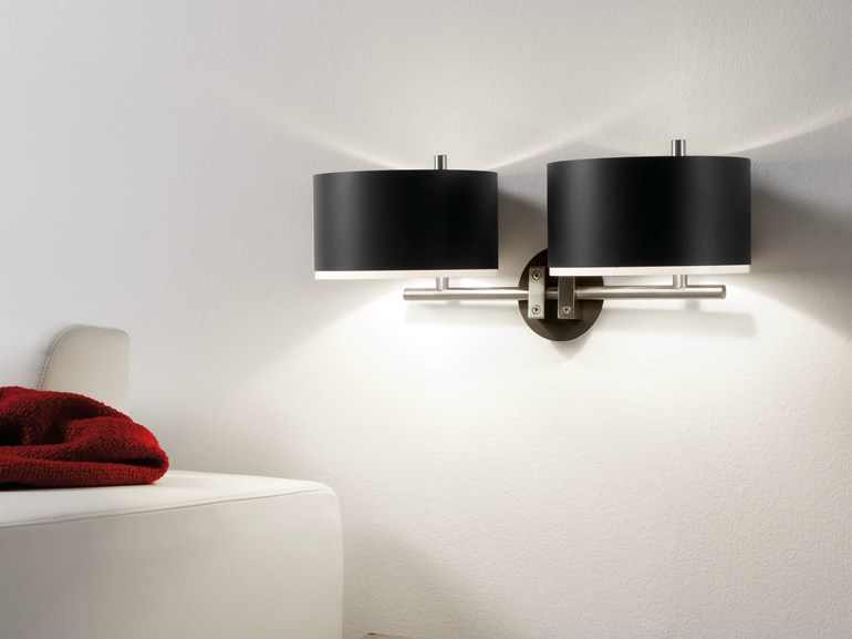 Direct-indirect light aluminium and PVC wall lamp CLUB A 2L - BOVER Il. Luminació & Mobiliario