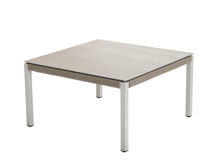 Tavolino da caffè quadrato in ceramica CLUB | Tavolino in ceramica - solpuri