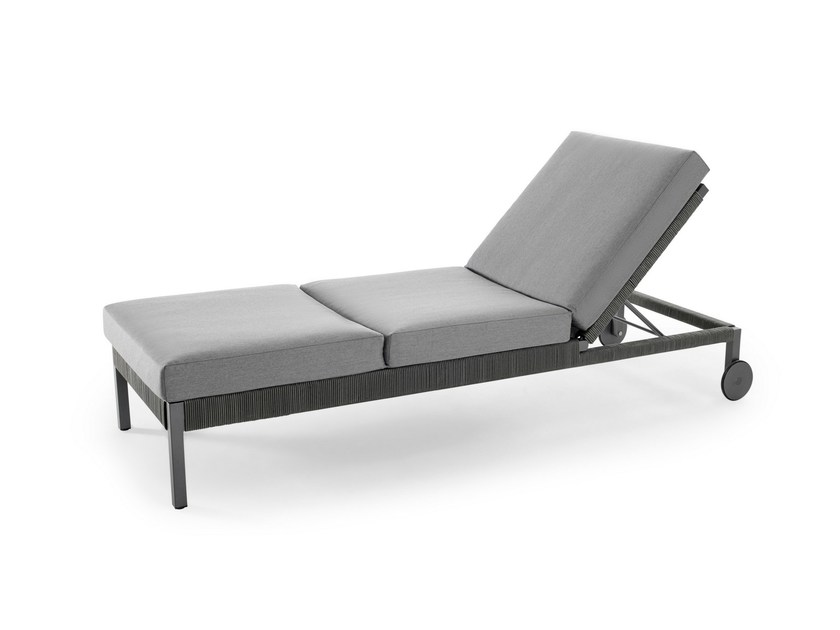 Folding garden daybed with Casters CLUB | Garden daybed - solpuri