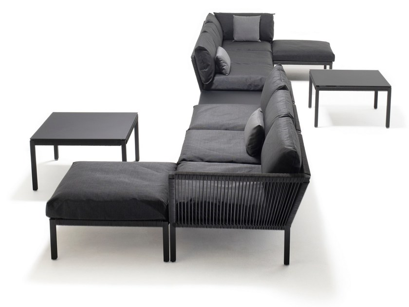 Modular fabric garden sofa CLUB | Sectional sofa - solpuri