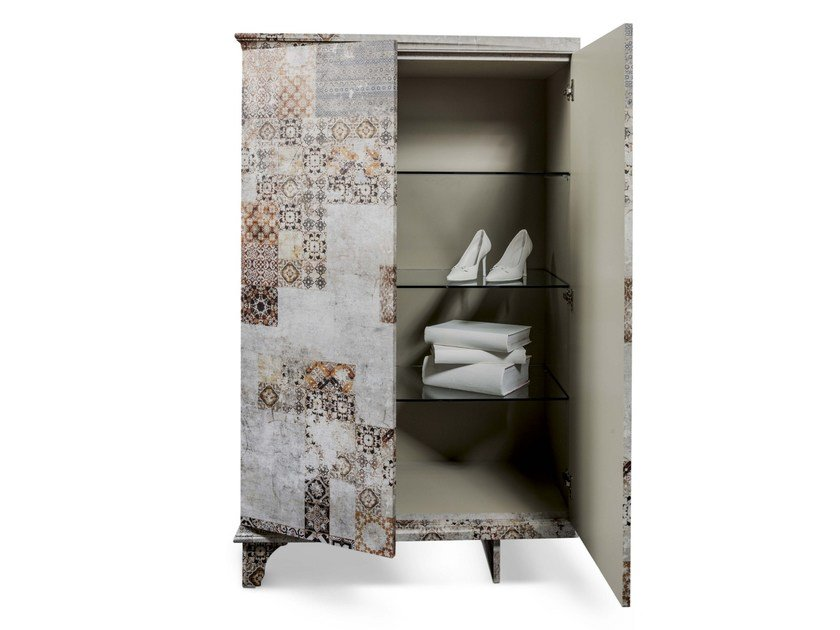 Glass-fibre highboard with doors CM-01 - MOMENTI di Bagnai Matteo