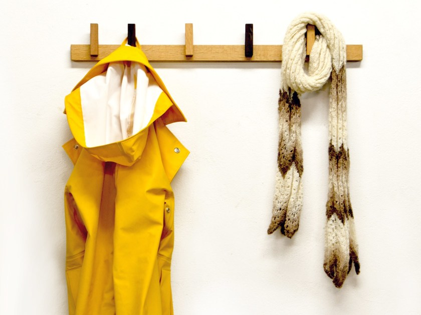 Wall-mounted wooden coat rack COAT RACK by AGUSTAV