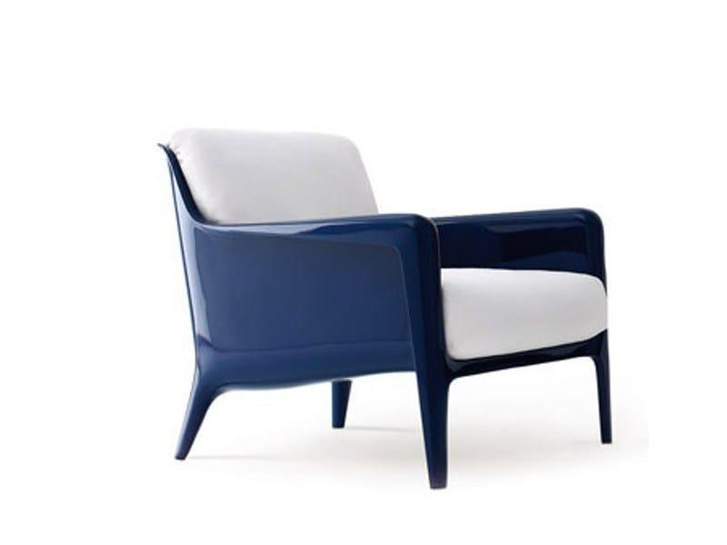 Polyurethane garden armchair with armrests COCCA - arflex