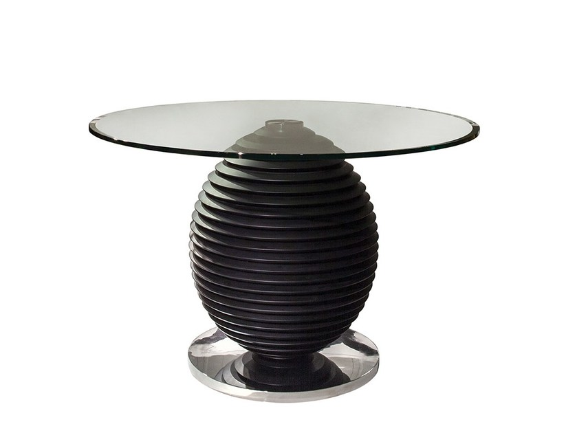 Round glass dining table COCO | Dining table by Mobi