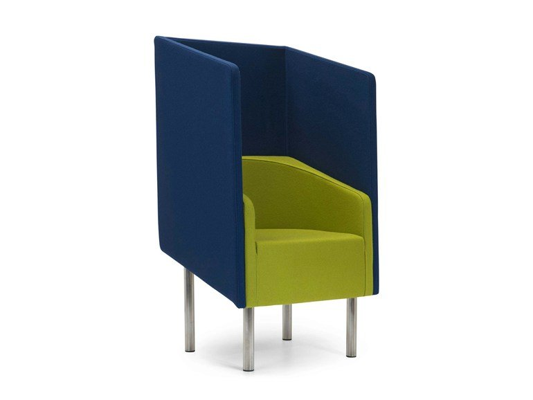 Upholstered high-back armchair COCODÌ HIGH | High-back armchair - Adrenalina