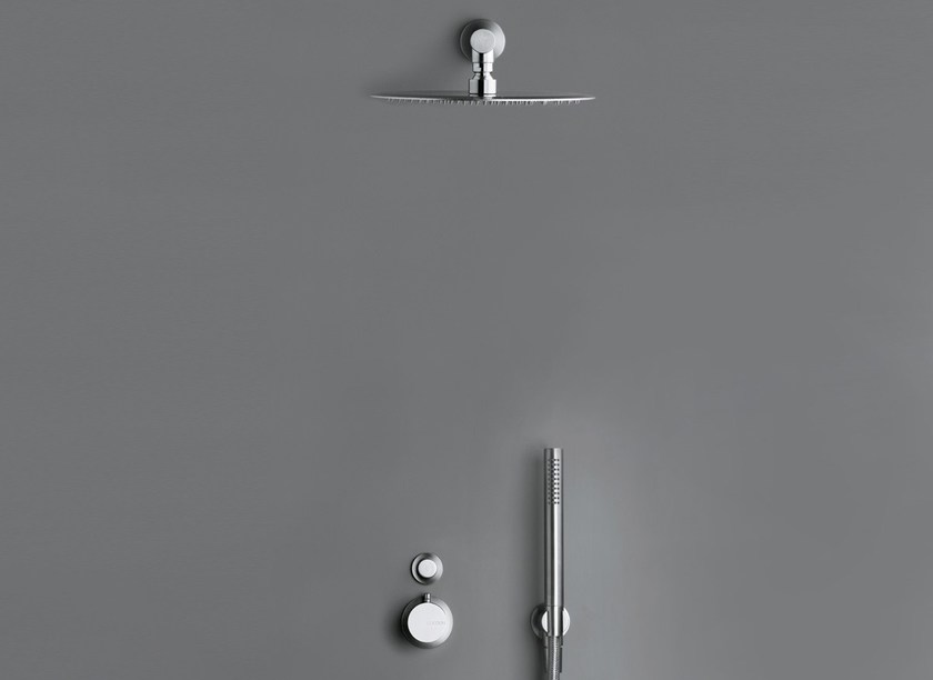 Shower mixer with overhead shower COCOON MONO SET21 - COCOON
