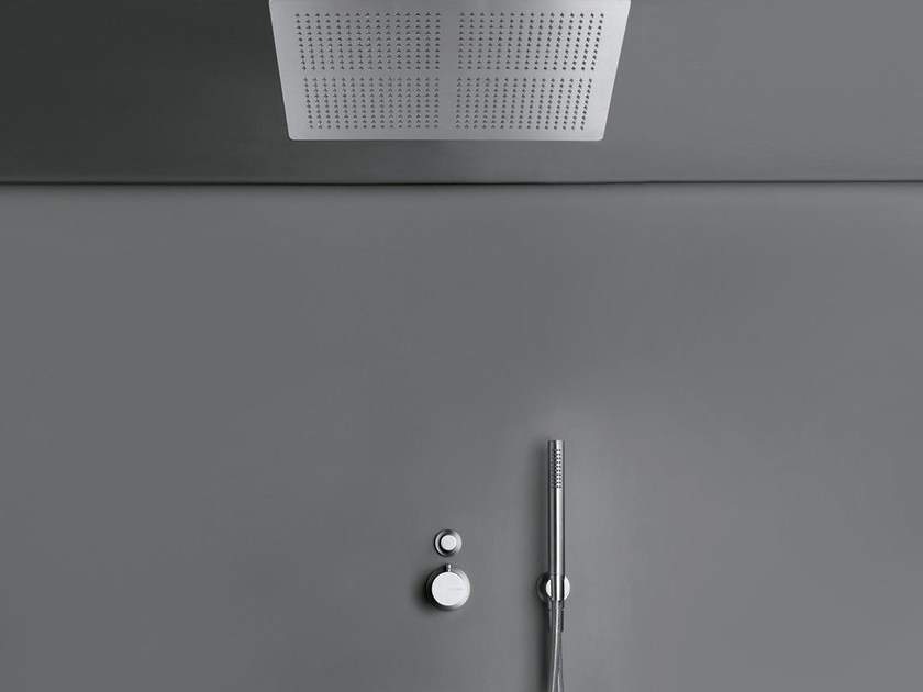 Thermostatic shower mixer with overhead shower COCOON MONO SET26 XXL - COCOON