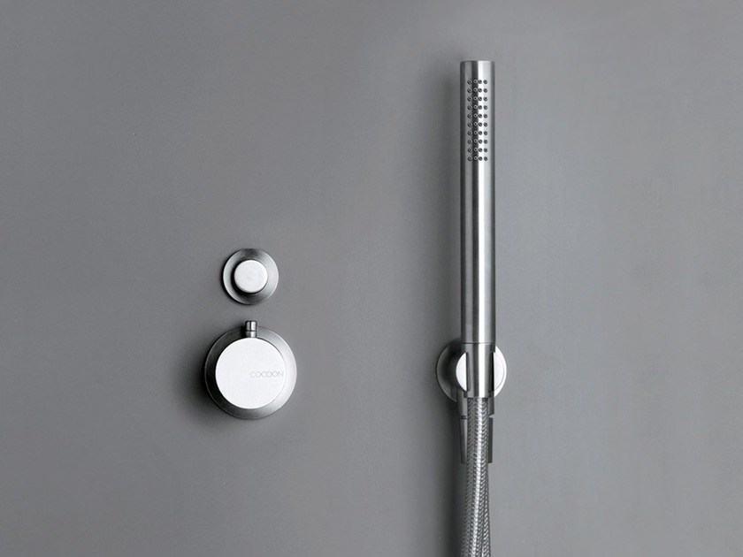 Stainless steel thermostatic shower/bath mixer COCOON MONO SET31 - COCOON