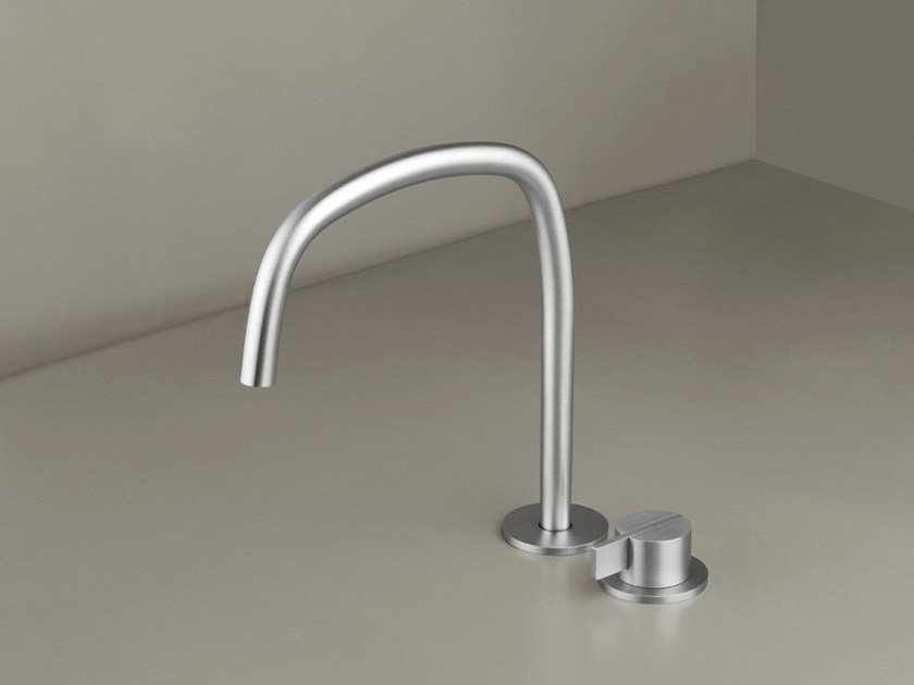 Countertop single handle washbasin mixer with adjustable spout COCOON PB SET11 - COCOON