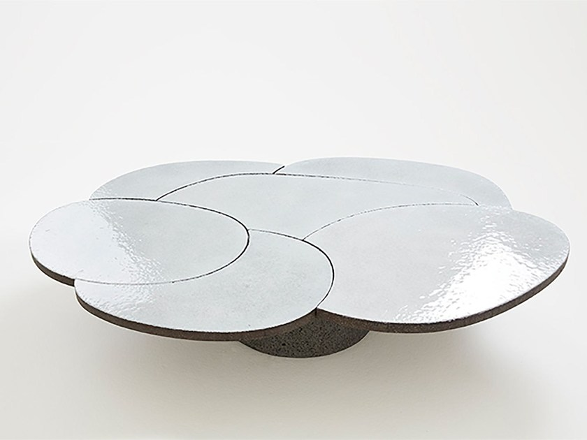 Lava stone coffee table for living room COFFEE TABLE WHITE by Made a Mano