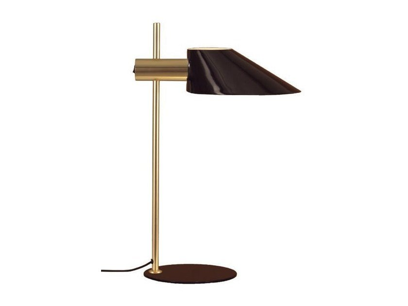 Metal table lamp with fixed arm COHEN GOLD - Aromas del Campo