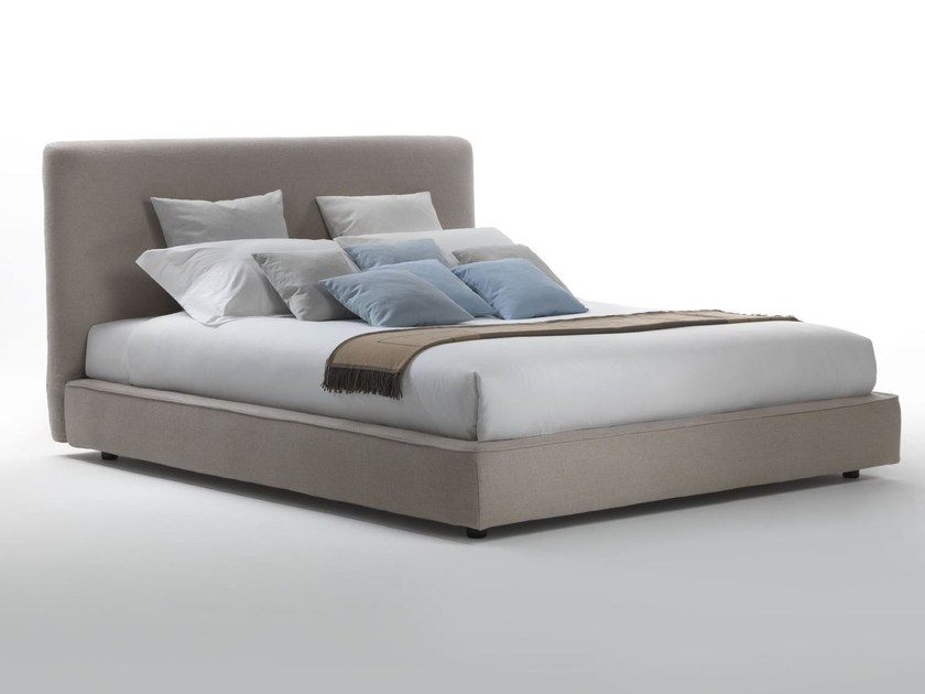 Upholstered fabric bed with removable cover COLE - Marac