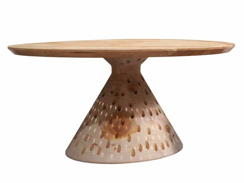 Round cedarwood table COLINO ROUND - Riva 1920