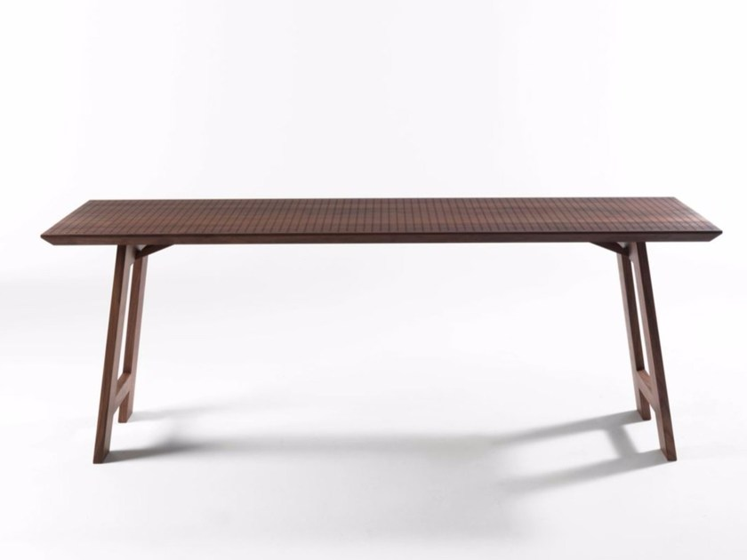 Folding rectangular solid wood table COLINO | Table - Riva 1920