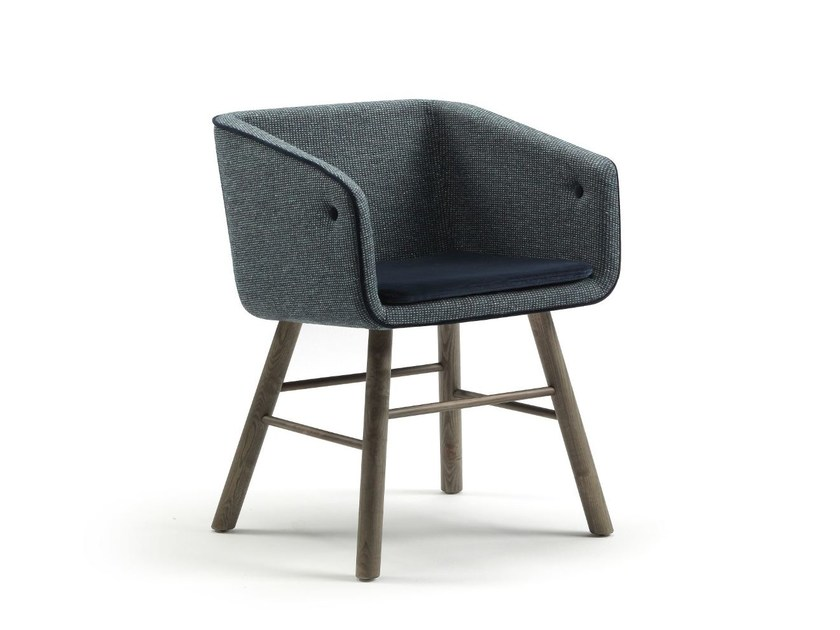 Upholstered fabric easy chair COLLAR MAO - SANCAL