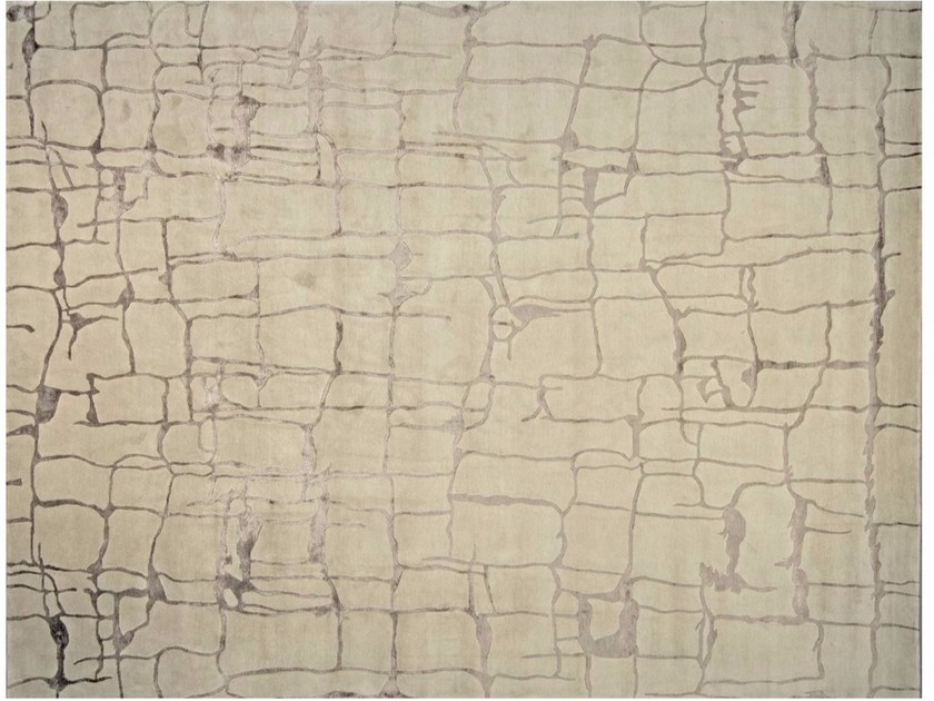 Patterned rectangular custom rug COLOMBO FICELLE - EDITION BOUGAINVILLE