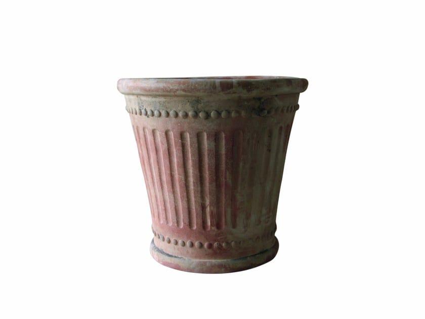 Clay planter COLONNA - Tectona