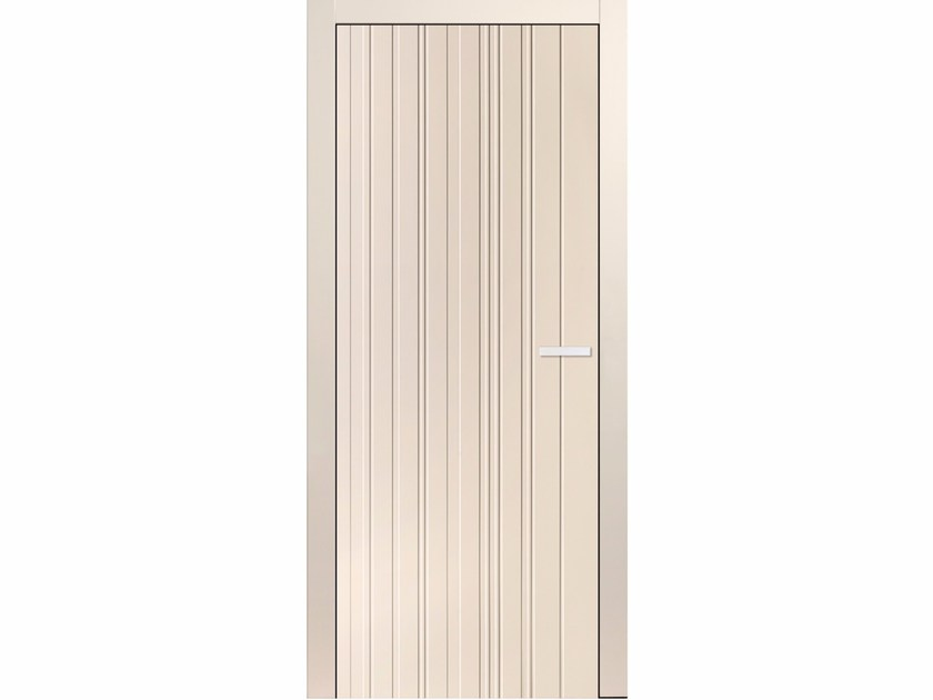 Flush-fitting lacquered wooden door COLOR EAN TB25 - BARAUSSE