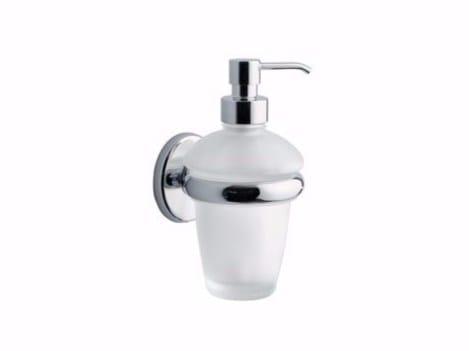 Wall-mounted glass liquid soap dispenser COLORELLA | Liquid soap dispenser - INDA®